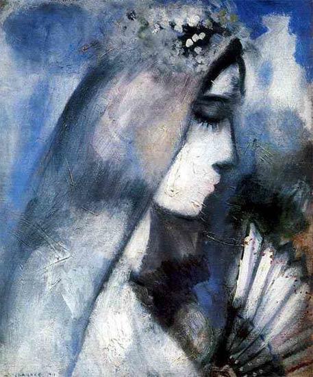 Simoil-ART | Marc Chagall - La mariée à l\'éventail | Picture and ...